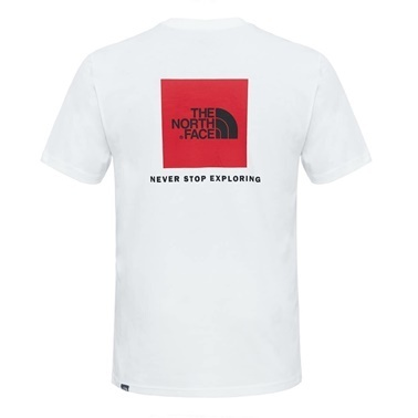 The North Face Red Box Tee Erkek T-Shirt Beyaz Beyaz